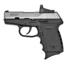 "SCCY INDUSTRIES CPX-2 RD 9MM LUGER 3.10"" 10+1 STAINLESS STEEL SLIDE BLACK POLYMER GRIP NMS CTS-1500 RED DOT"
