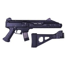 CZ SCORPION EVO 3 S1 9MM PISTOL with Flash Can, extended handguard and SB Folding Brace