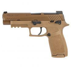 "Sig Sauer P320 M17 Pistol 9mm 4.7"" (2) 10rd Siglite Sights - Coyote Tan"