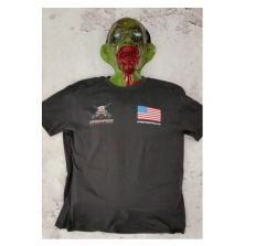 PGS T-Shirt w/ American Flag - Charcoal Prepper T-Shirt w/ American Flag M