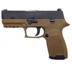 Sig P320C FDE 9mm pistol 3.9'' barrel Flat Dark Earth frame/ black slide CONTRAST SIGHTS (2) 15rd mags