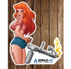 XM42-M Sticker - Girl