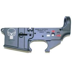 SPIKE'S TACTICAL STRIPPED LOWER Punisher - color filled STLS015-CE