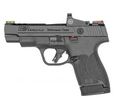 """Smith & Wesson M&P9 Shield Plus 9mm 4"""" 10rd/13rd W/ Red Dot - Black"""