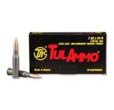 Tula Rifle Ammo - Tula 7.62x54R 148gr FMJ 20/bx