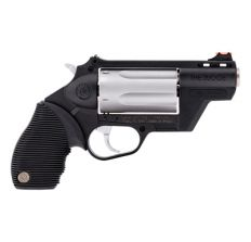 """Taurus Judge Public Defender w/ Medium Frame, 410 Gauge/45LC, 2"""" Barrel, 2.5"""" Chamber, Polymer Frame, Stainless Finish, Rubber Grips, Fixed Sight, 5RD"""