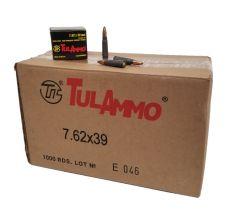 Tula Ammunition 7.62x39 154gr Soft Point 1000rd Case