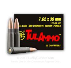 Tula Rifle Ammo - Tula 7.62x39 122gr HP 20/bx
