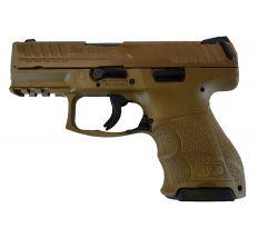 """Heckler & Koch VP9SK 9mm 3.4"""" 2-10rds Cerakote Brown Slide and FDE Frame"""