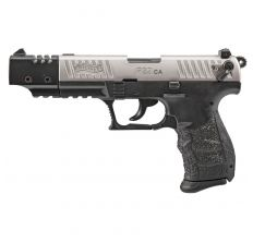 Walther Arms P22 Target CA .22LR (2) 10rd Thumb Safety - Nickel / Black
