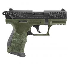 Walther Arms P22 CA .22LR (2) 10rds Manual Thumb Safety - Military Green / Black