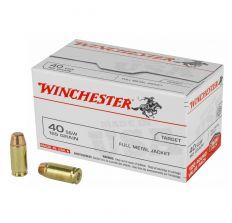 Winchester USA .40 S&W 165gr FMJ - 100rd Box