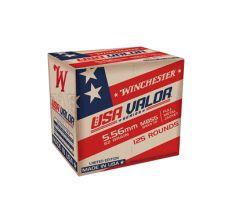 Winchester USA Valor 5.56 Ammo M855 62gr FMJ Green Tip - 125rd Box