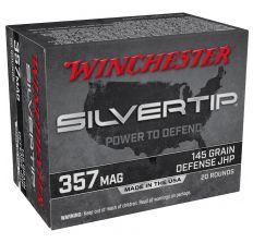 Winchester Silvertip Ammo .357Mag 145gr Defense JHP - 20rd Box