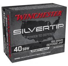 Winchester Silvertip Ammunition .40S&W 155gr Defense JHP -20rd Box