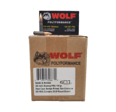 Wolf Steel .300 Blackout Ammunition 145gr FMJ - 500rd CASE