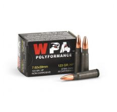Wolf Steel Case 7.62X39mm Rifle Ammunition 123 Grain HP 1000rd Case