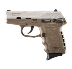 "SCCY CPX-1 FDE Frame/ Stainless Slide 9mm pistol 3.1"" barrel WITH AMBI MANUAL SAFETY (2) 10rd mags CPX-1TTDE"