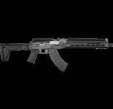 "Zastava ZPAPM70 AK47 Rifle Bulged Trunnion 1.5mm Receiver  Black 7.62x39 16.3"" Chrome Lined Barrel Extended M-LOK Handguard Folding Stock 30rd"
